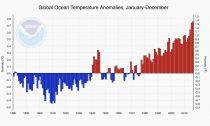 Graph of Global Ocean Anomalies