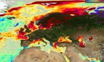 Europe's sea temperatures