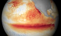 An image showing the 2015 El Niño with rising temperatures in the Pacific