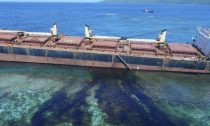 Ship ran aground and began leaking oil next to a UNESCO World Heritage site.