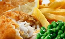 fish and chips dinner in newspaper