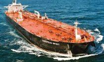 oil tanker sailing across the ocean