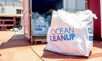Ocean Cleanup project in action